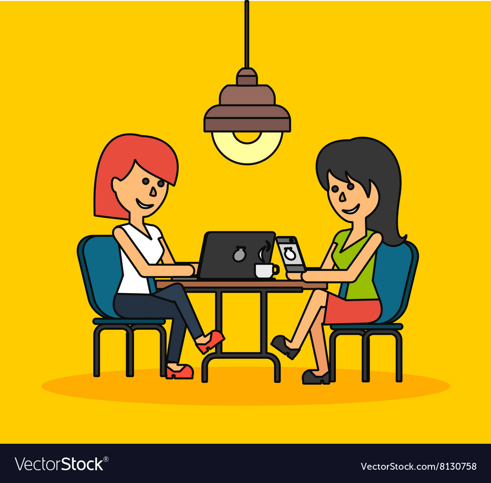 Woman Work with Laptop and Smartphone