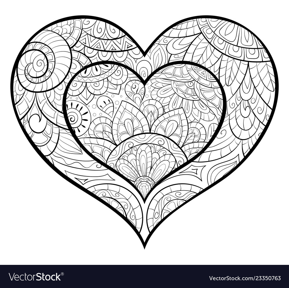 93 Coloring Book Images Of Hearts Best HD