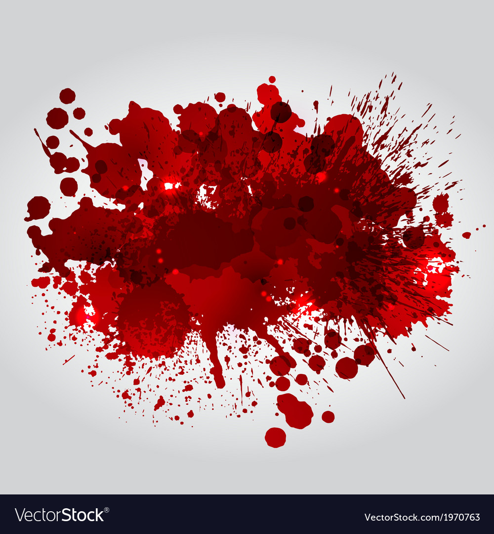 Background With Red Blots