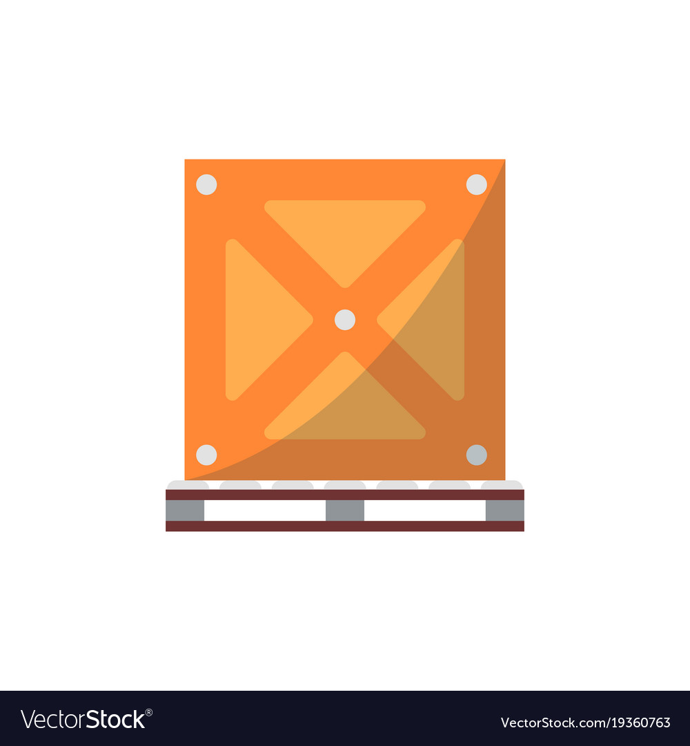 Big delivery box on pallet icon vector image