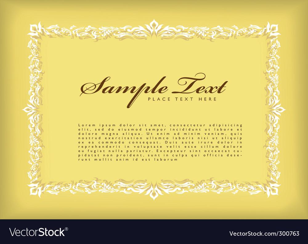 Certificate frame vector image