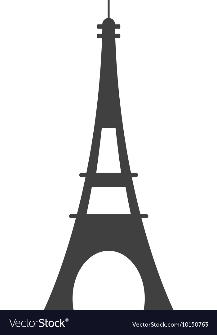 Eiffel tower paris france icon graphic vector image