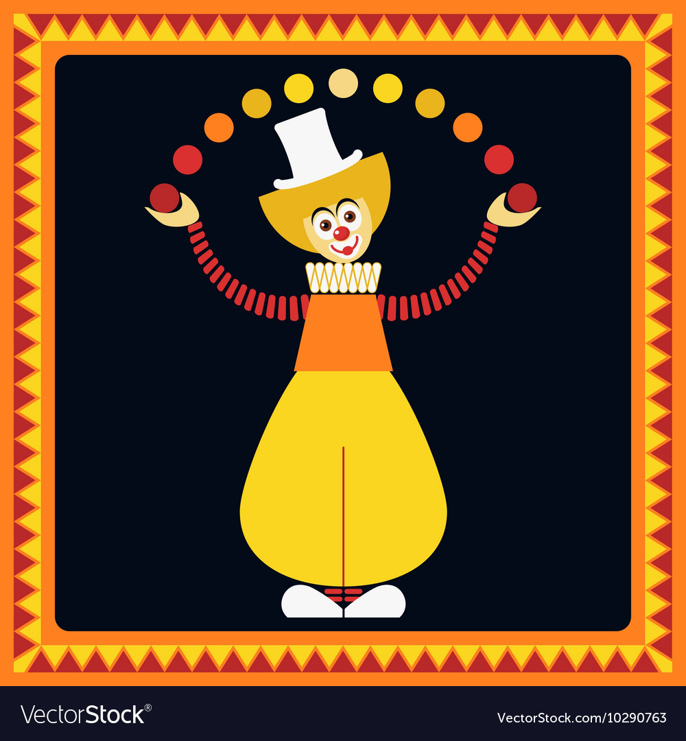 Funny clown Juggler balls vector image