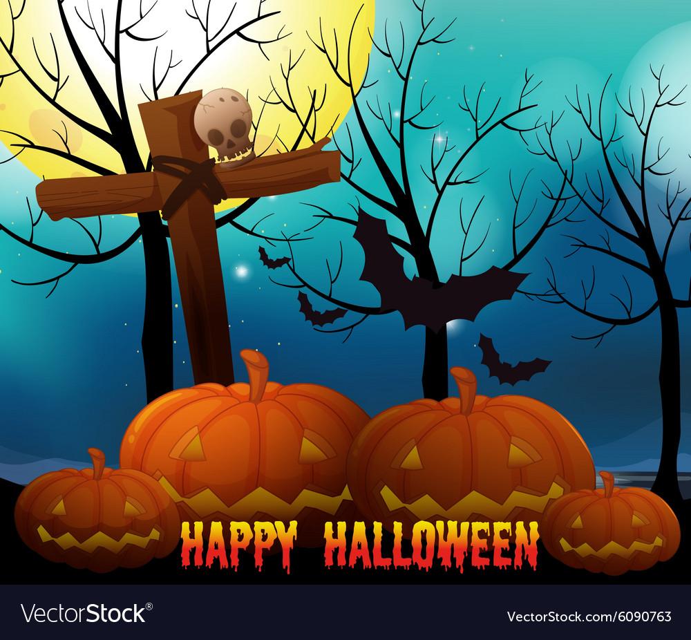 Happy halloween on fullmoon night