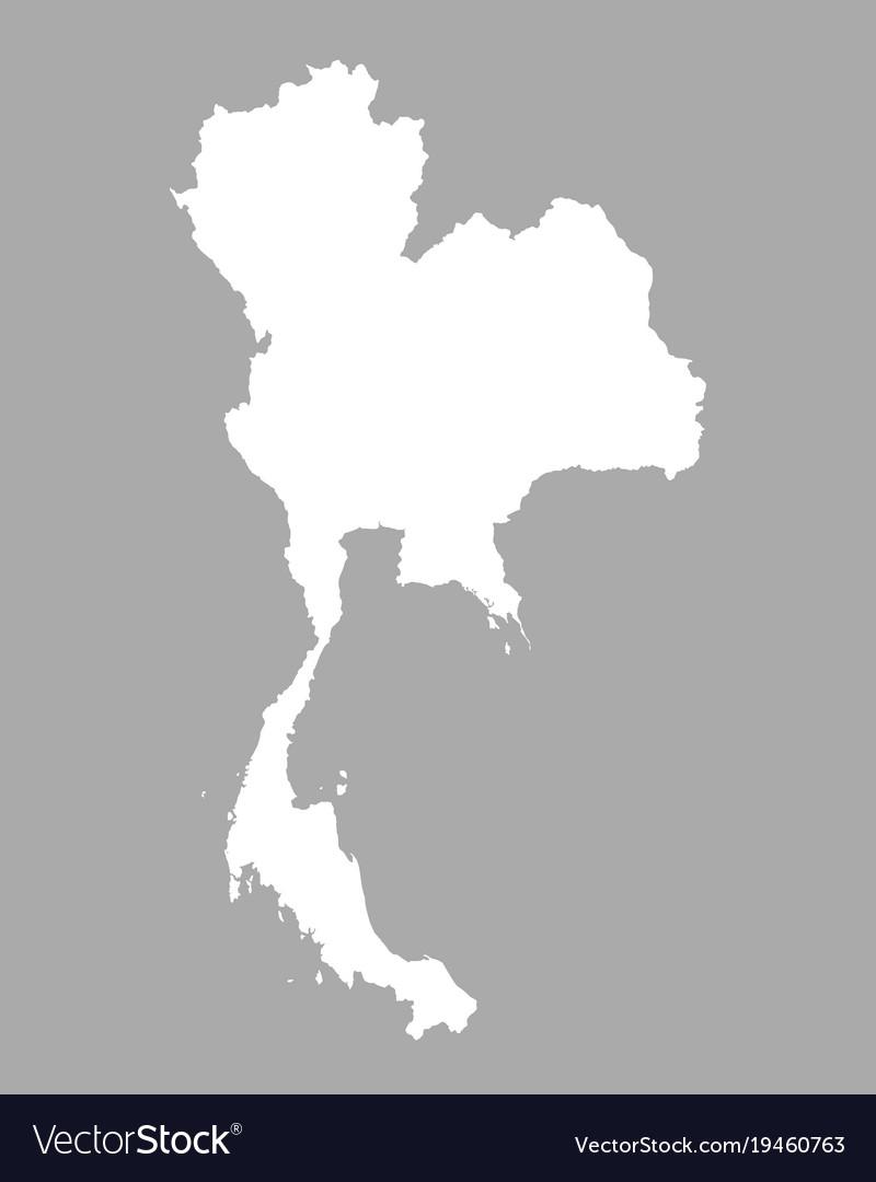 Map of thailand Royalty Free Vector Image - VectorStock