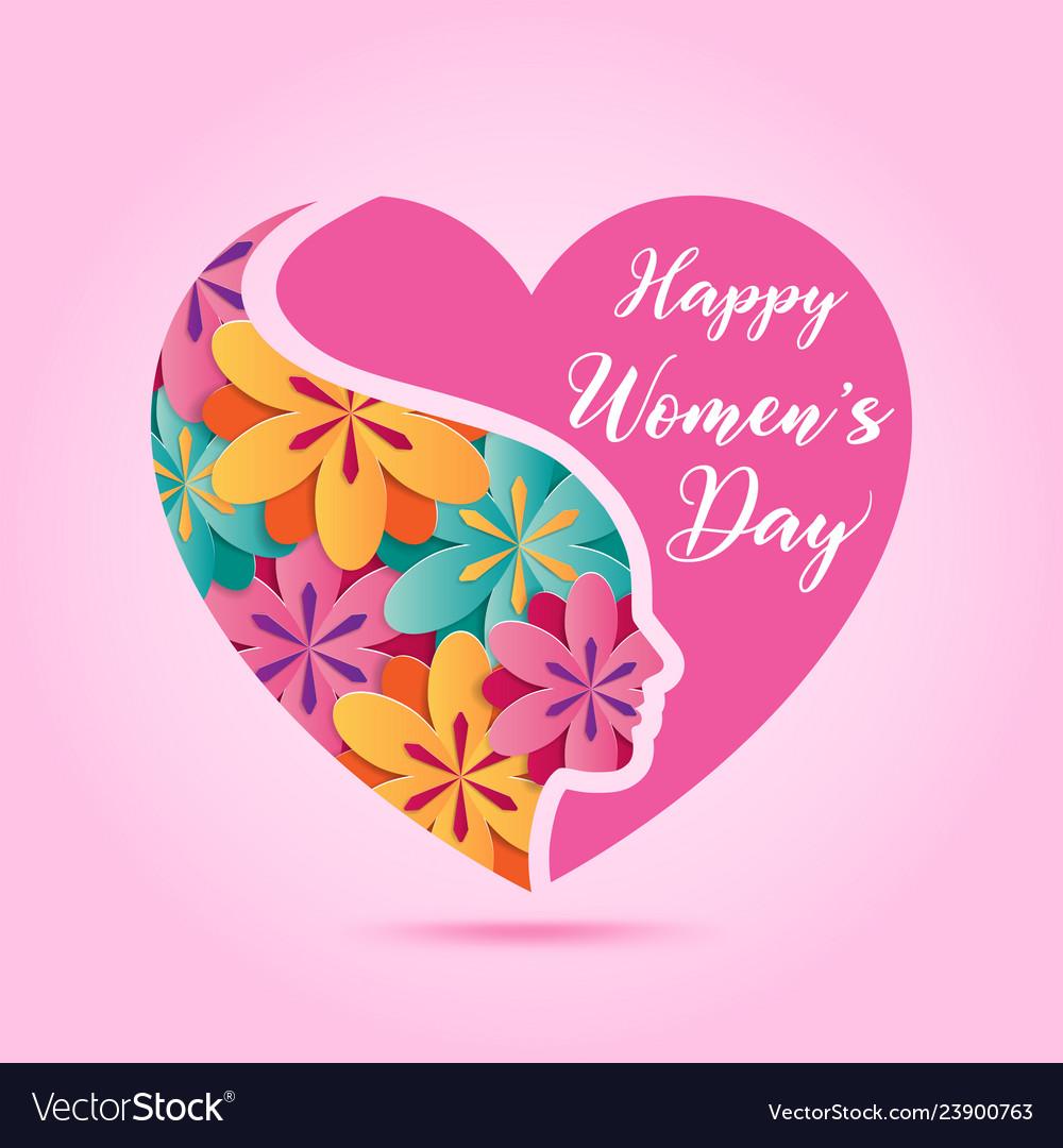 March 8 women day design element