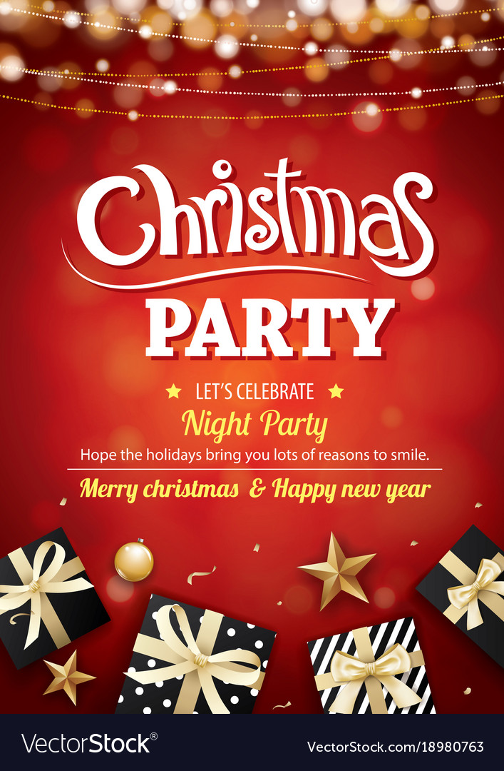 Merry Christmas Party Light And Gift Box For