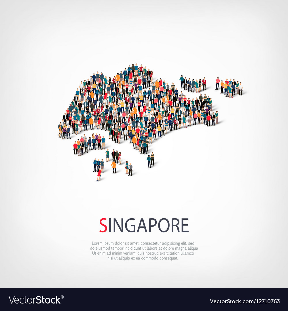 People map country Singapore