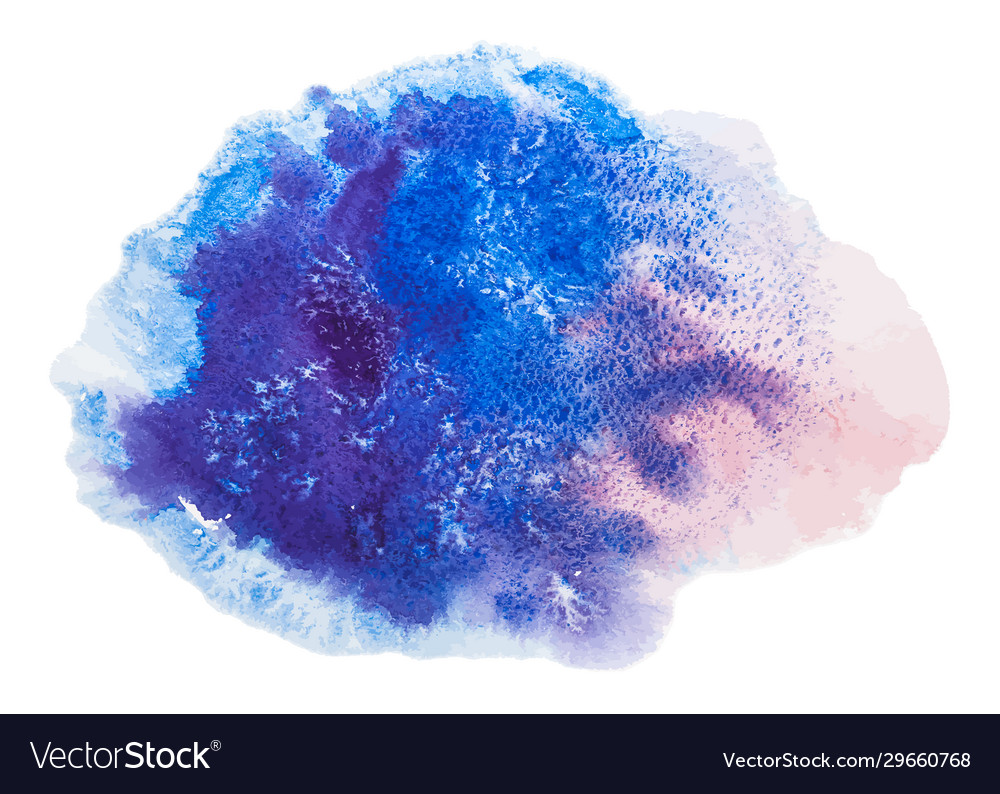 Blue and pink watercolor splash stain