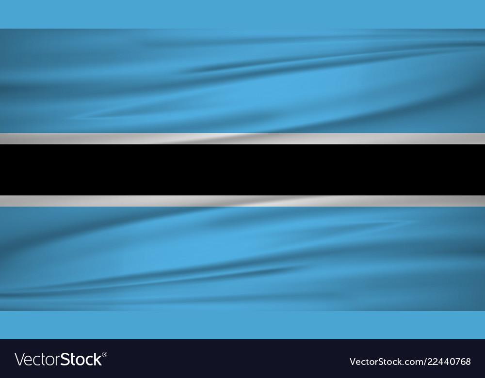 Botswana flag botswana flag blowig in the wind