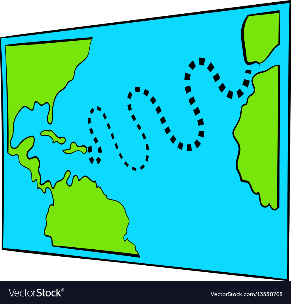 Christopher columbus first voyage map icon