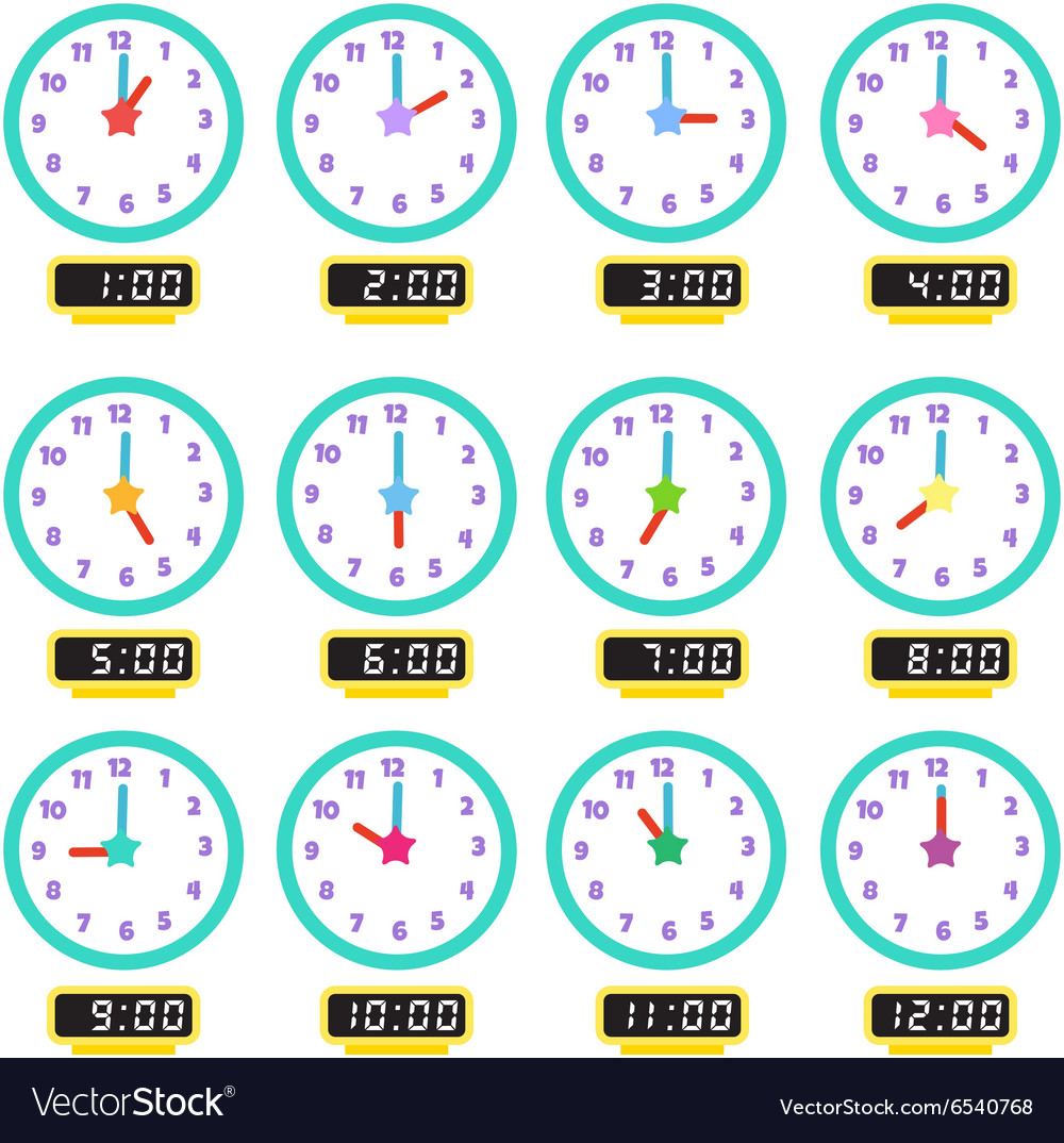 Clock that show every hour