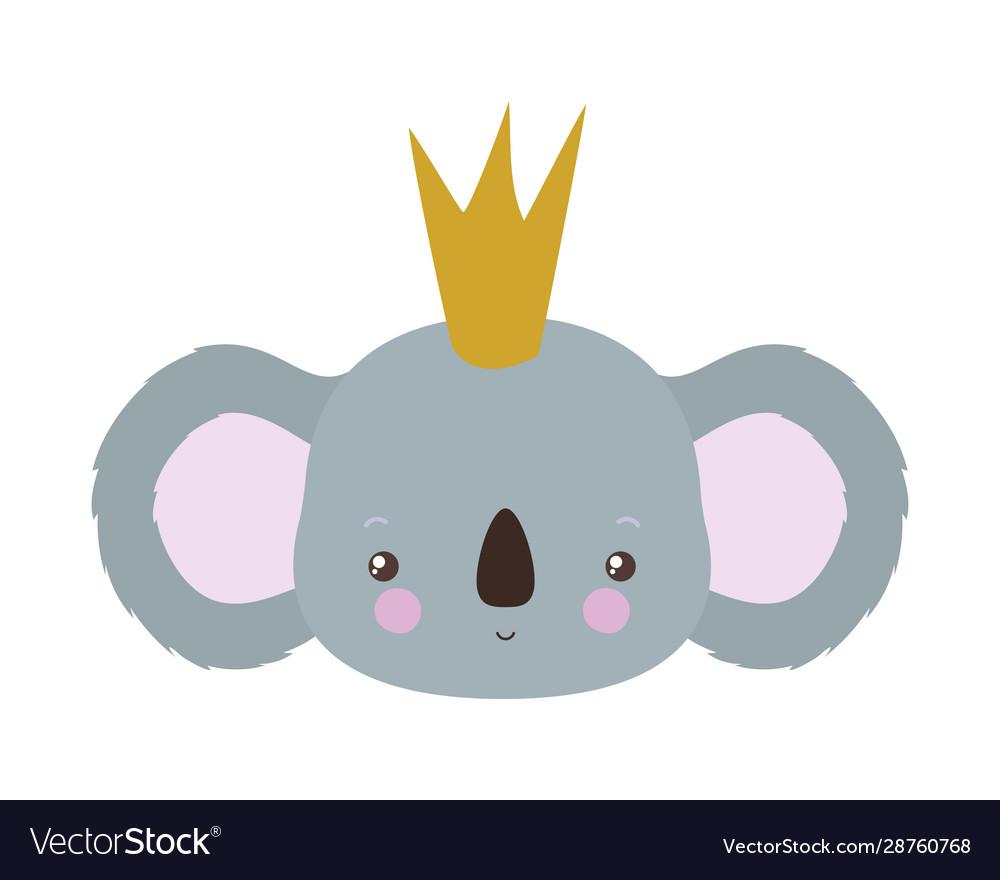 Cute Koala Cartoon With Crown Design Royalty Free Vector Funny cute cartoon crown vector seamless stock vector. vectorstock