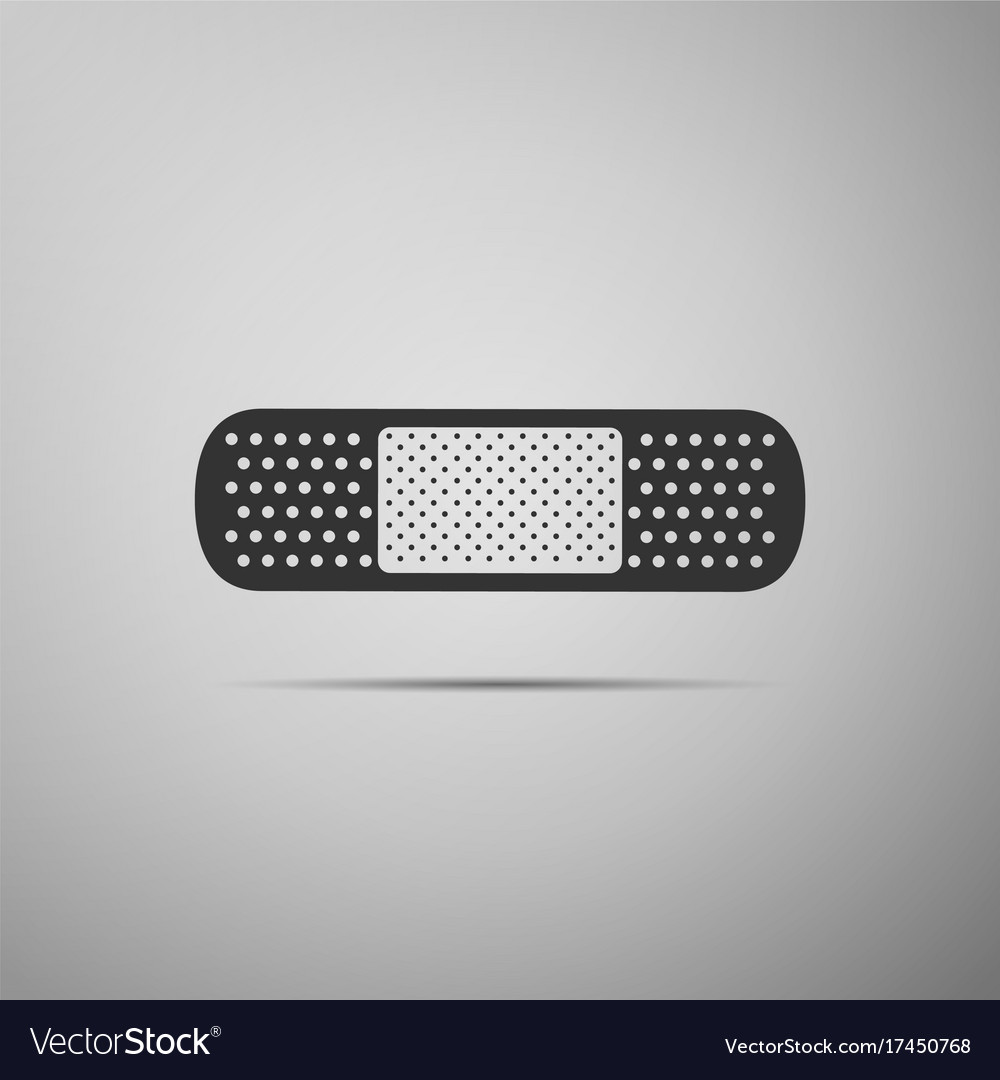 Medical bandage plaster icon isolated vector image
