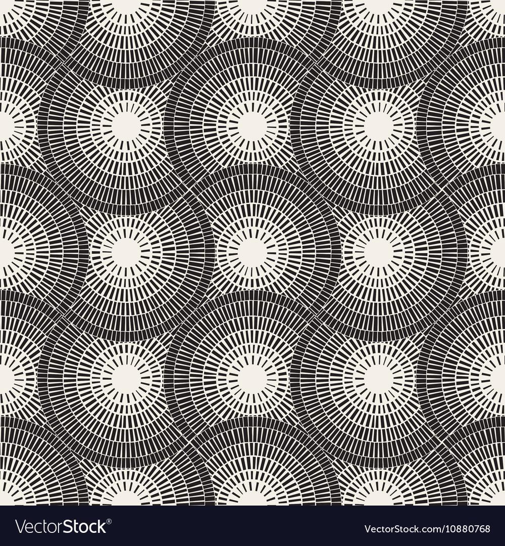 Seamless Black and White Mosaic Pavement