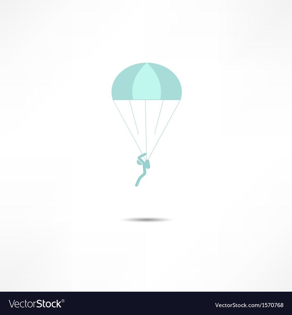 Skydiver icon vector image