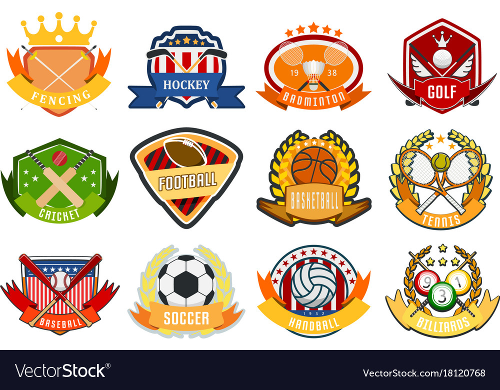 Sport game team logo play tournament label