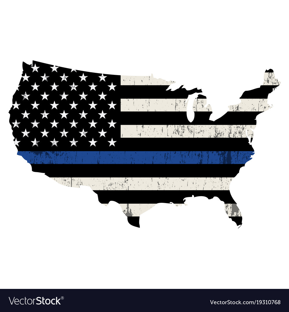 Usa police support thin blue line