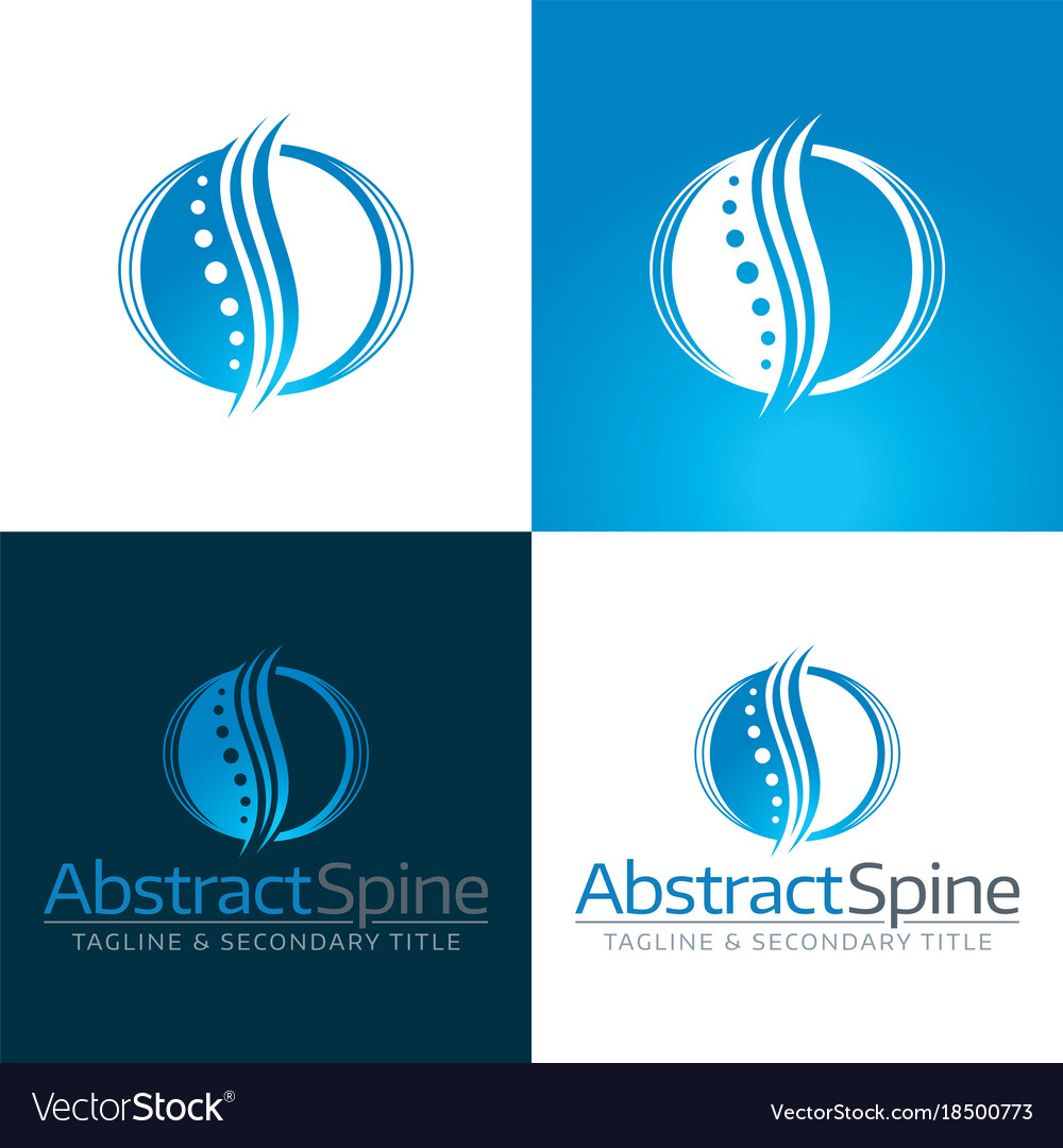 Abstract spine icon and logo