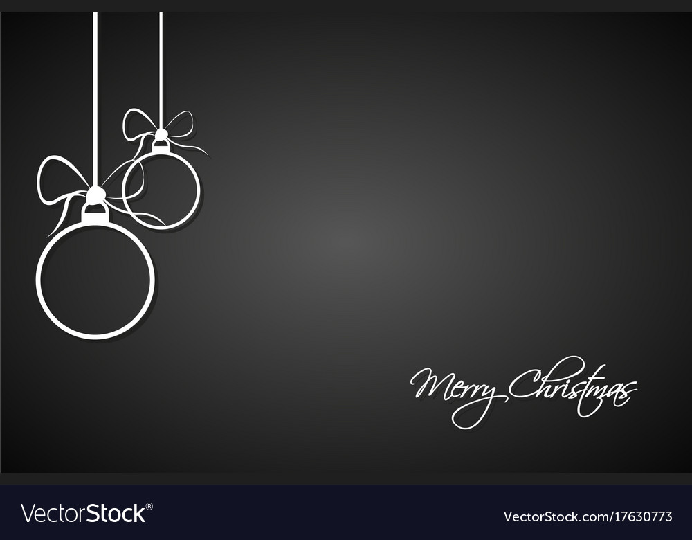 Christmas greeting card with simple balls