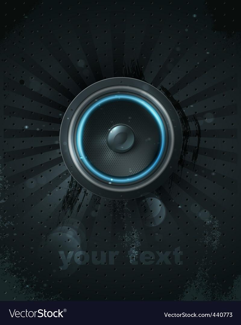Vector musical speaker icon