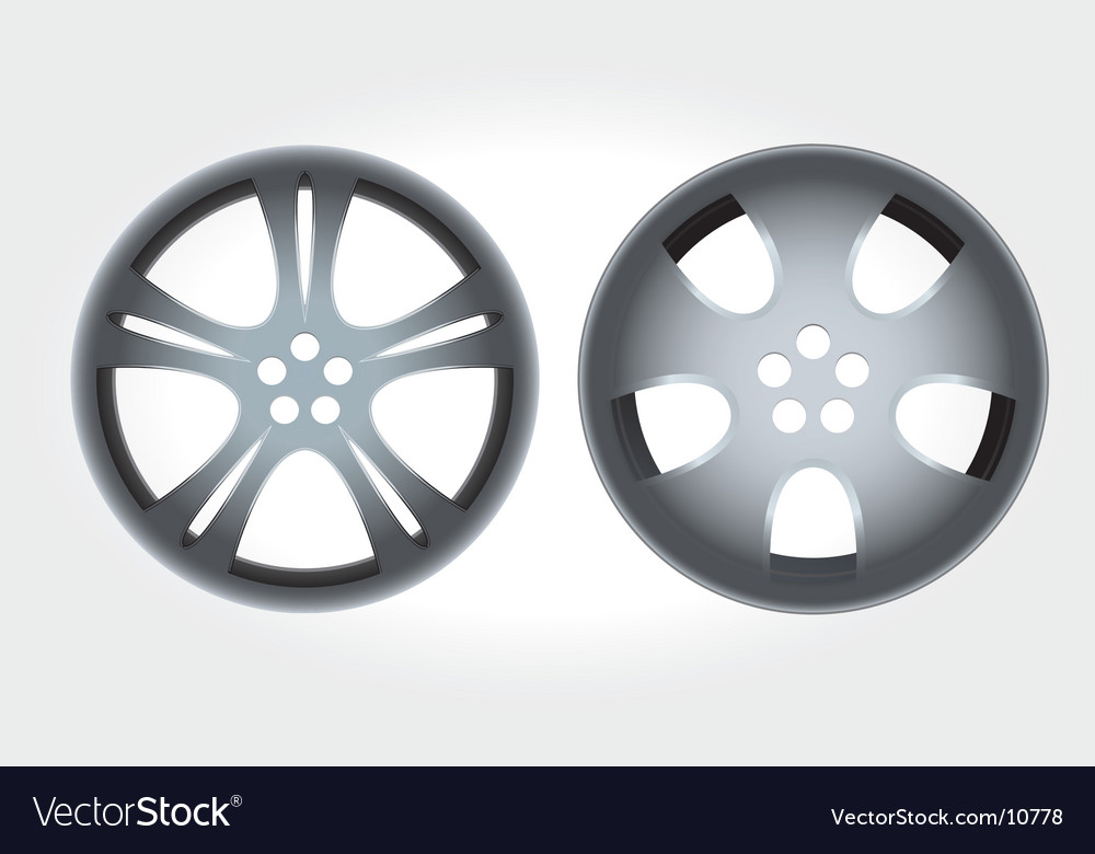 Alloy rims vector image
