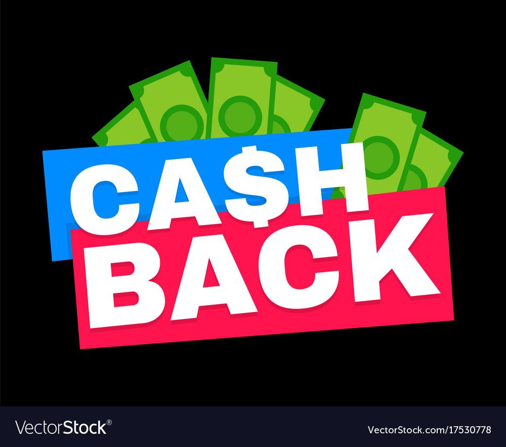 Cash back modern flat style