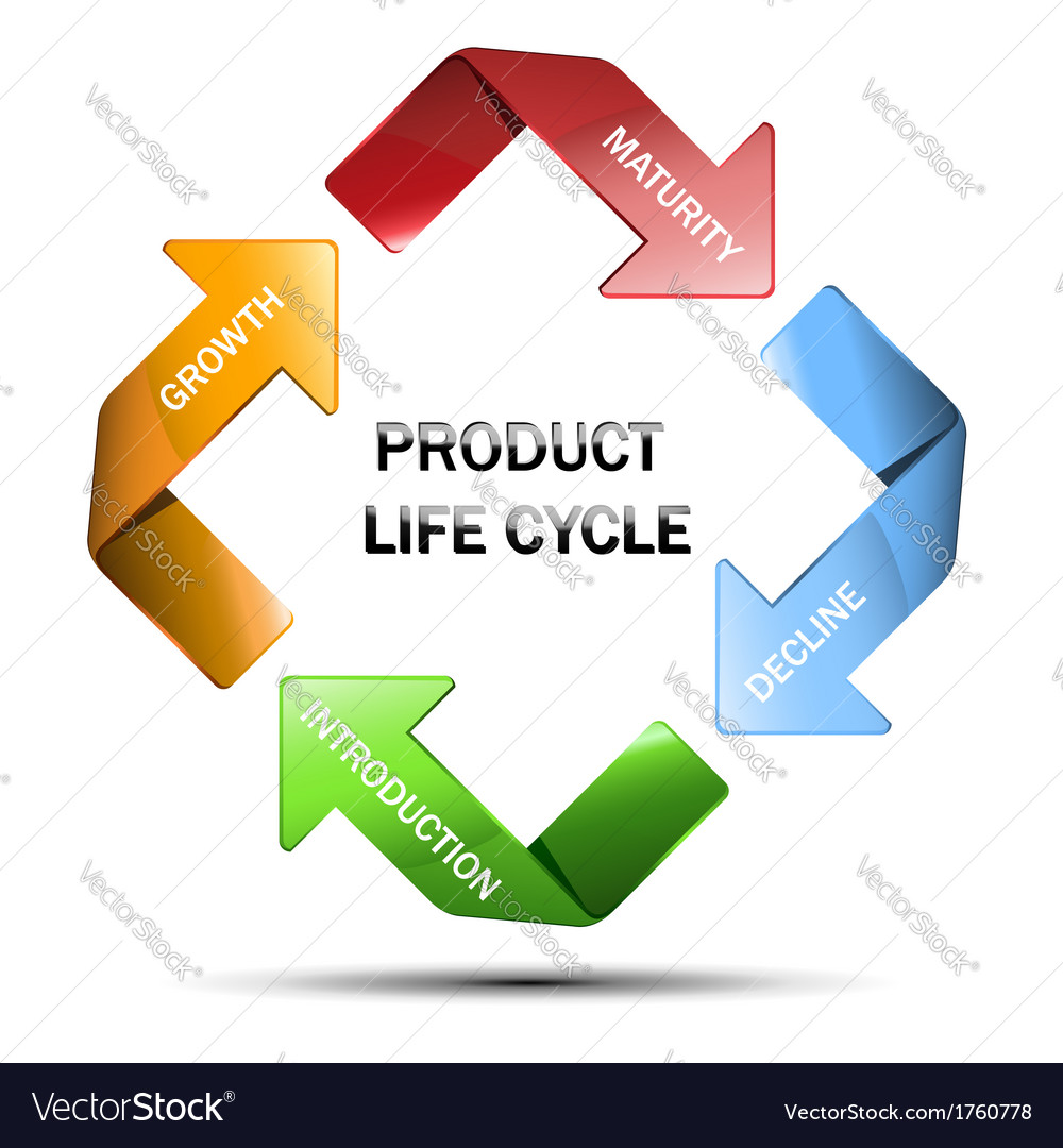Diagram of product life cycle royalty free vector image diagram of product life cycle vector image ccuart Images