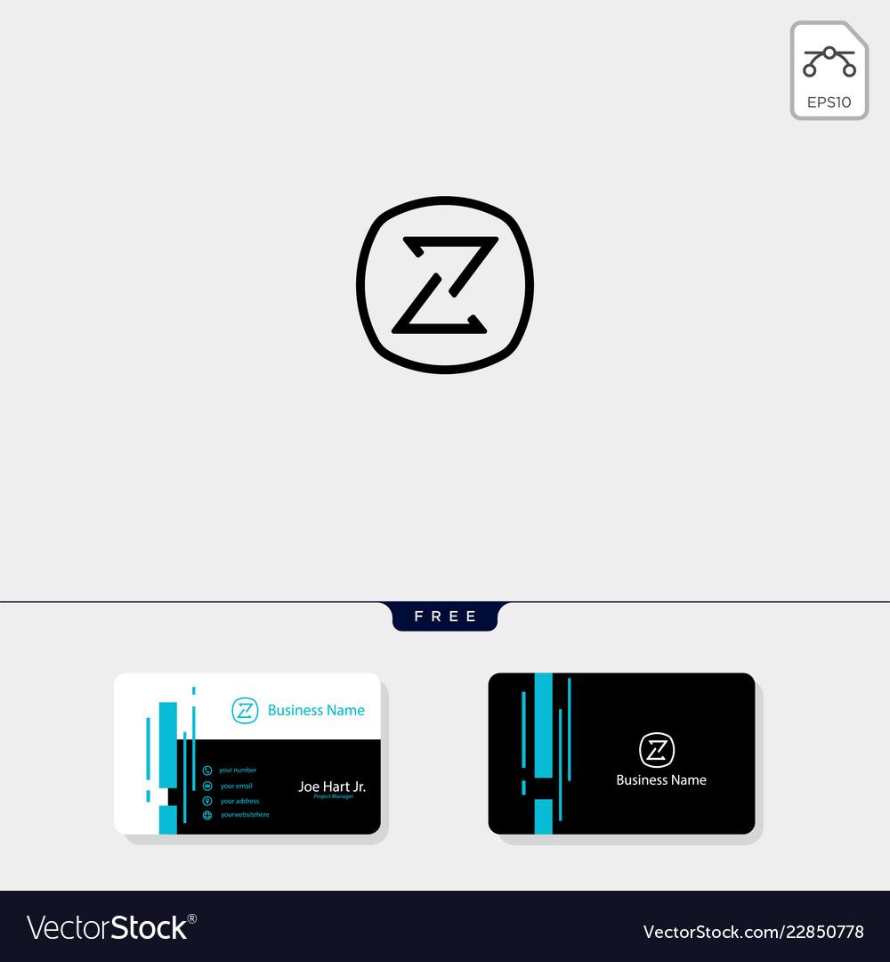 Minimal z initial logo template get free