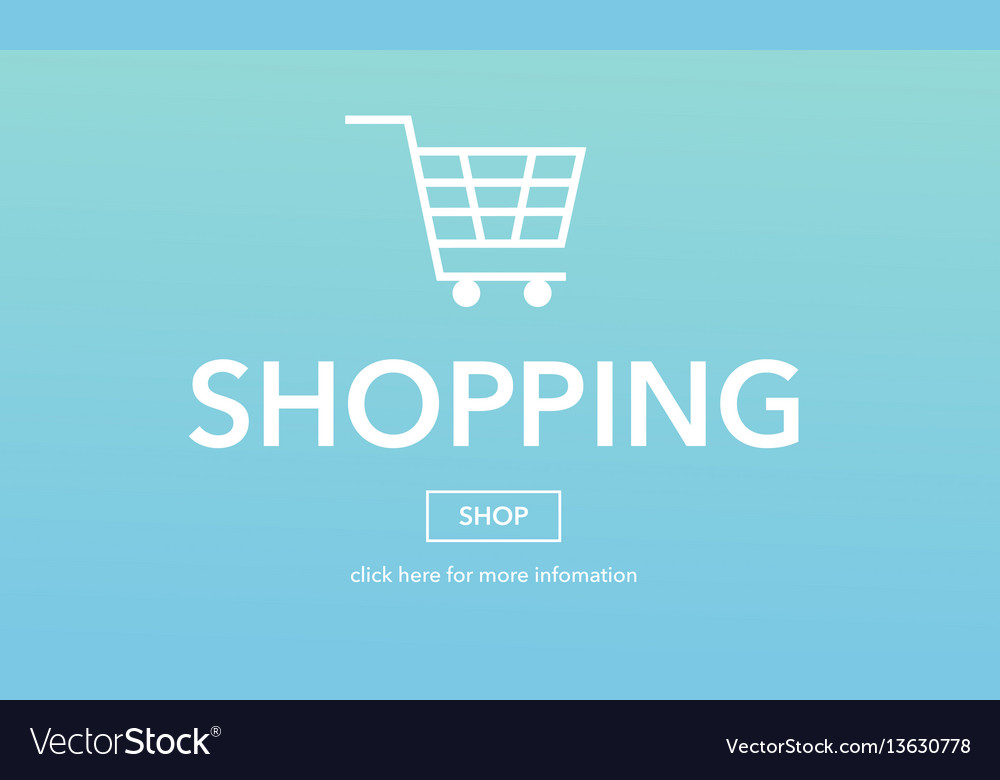 Online shopping commerce web page concept