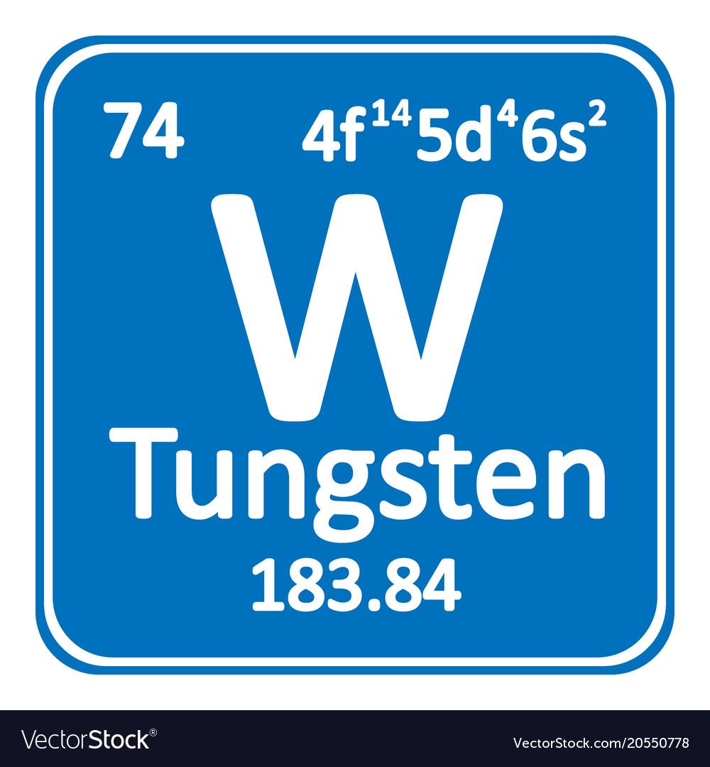 Periodic table element tungsten icon royalty free vector periodic table element tungsten icon vector image urtaz Choice Image