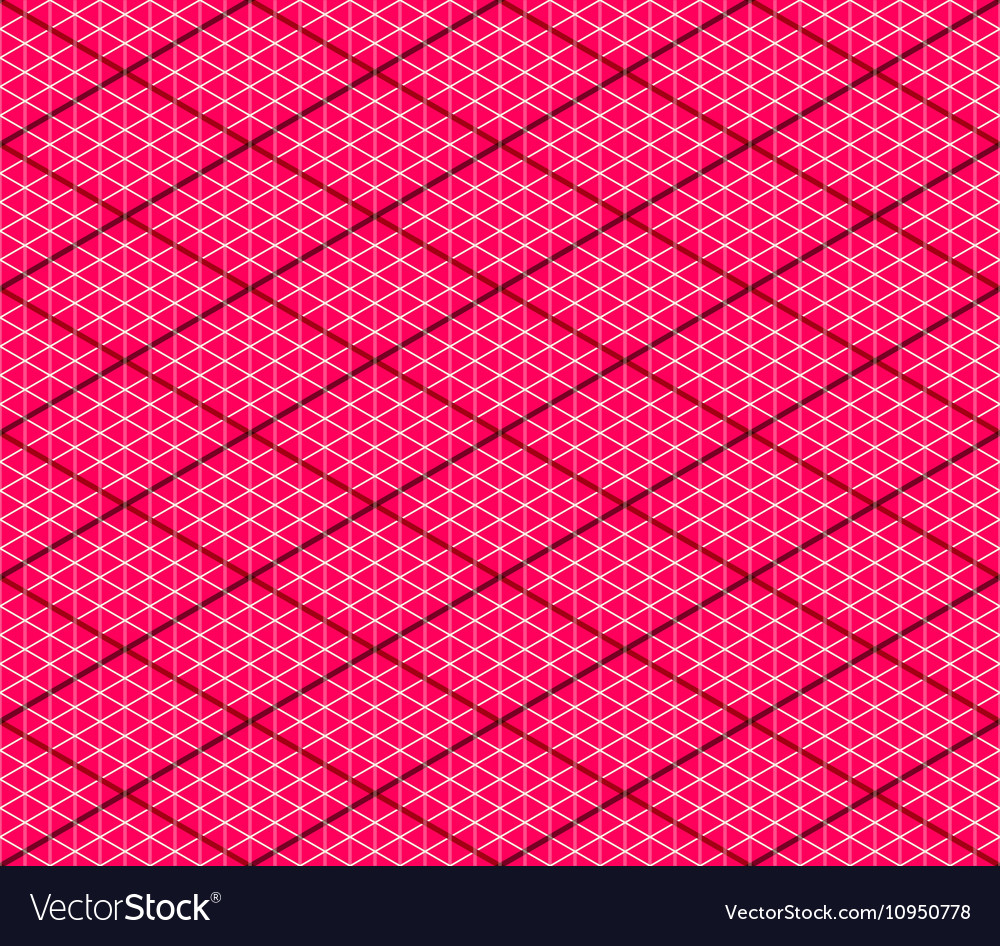 Pink Seamless Isometric Background