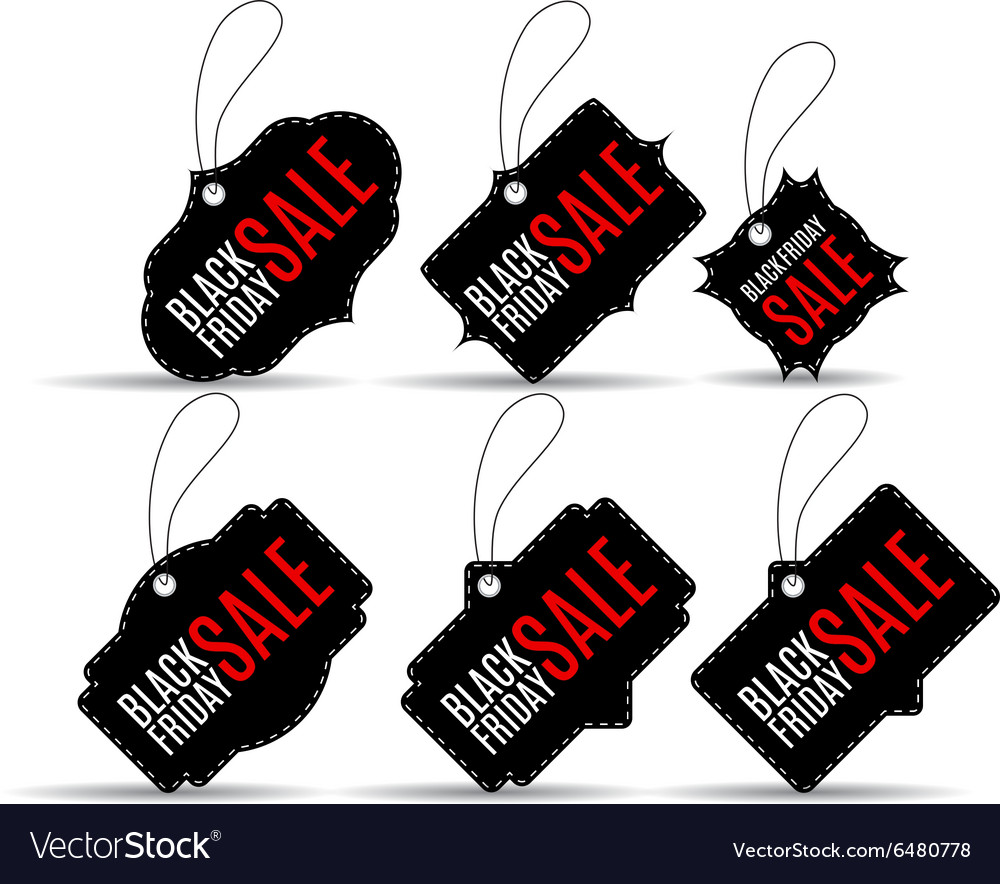 Set black friday discount vector image