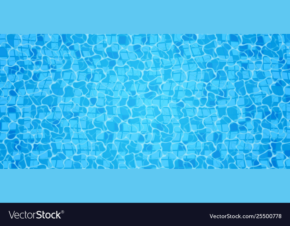 Swimming pool bottom caustics ripple and flow