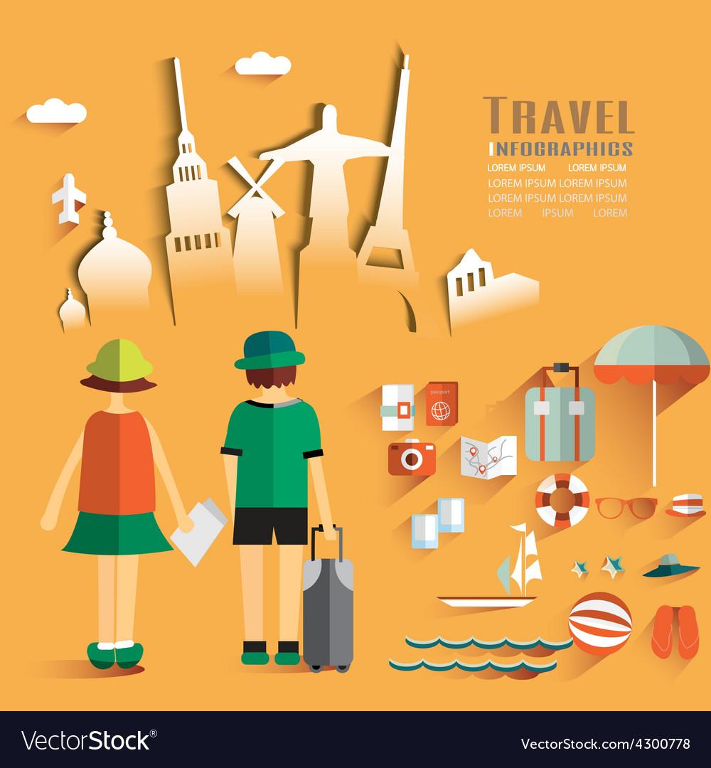 Trendy Flat Design Travel