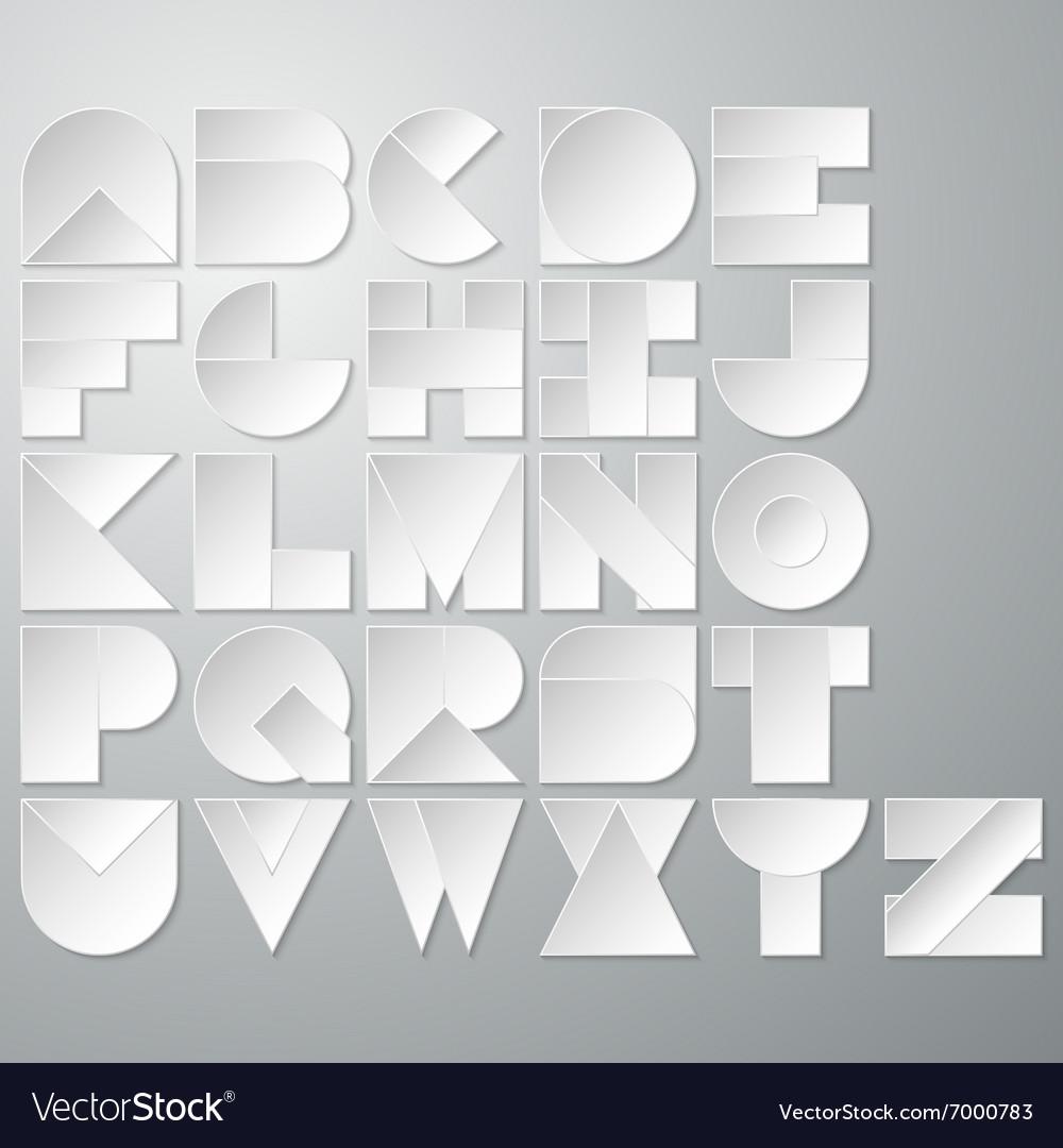 A paper font