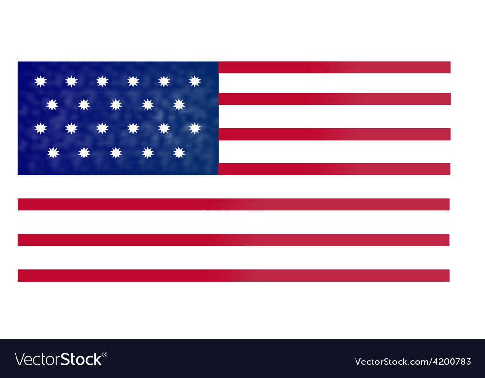 American flag red