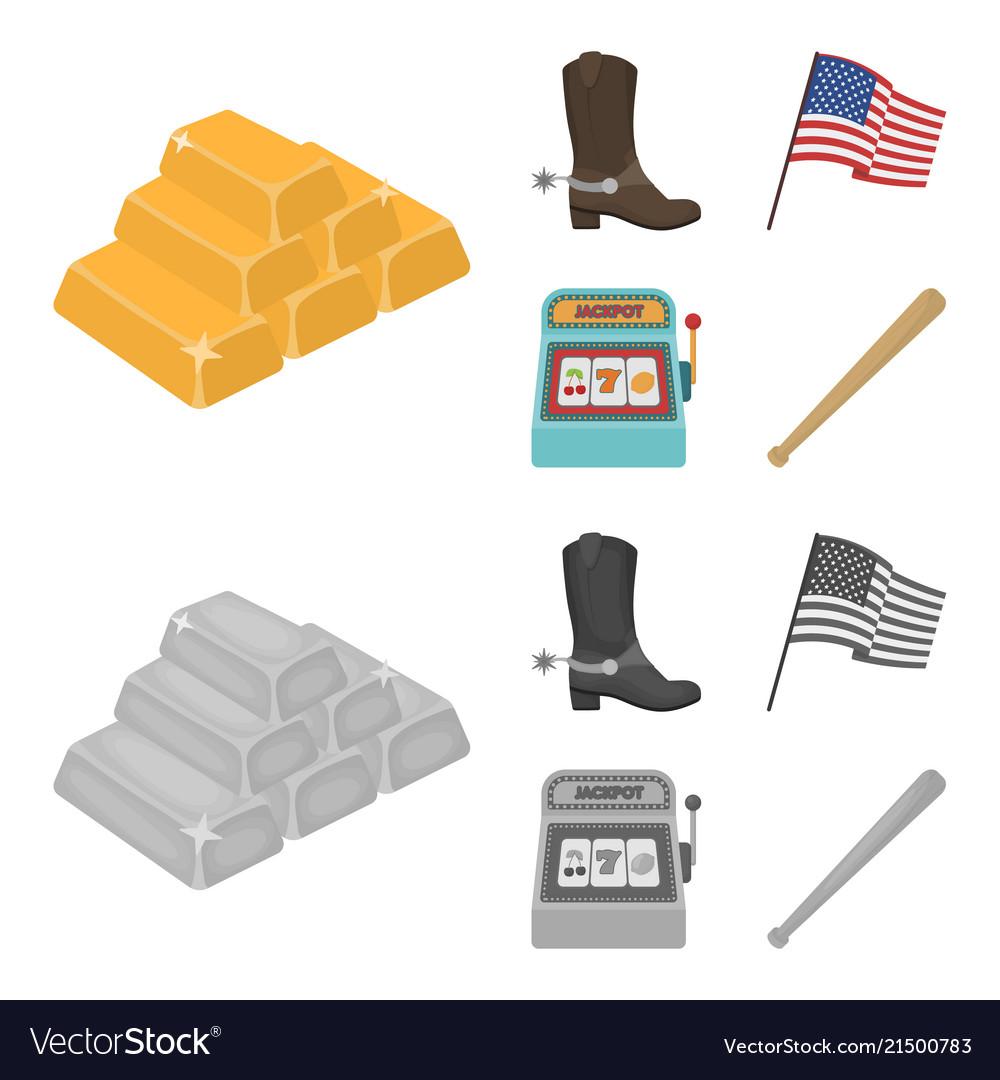 Cowboy boots national flag slot machine