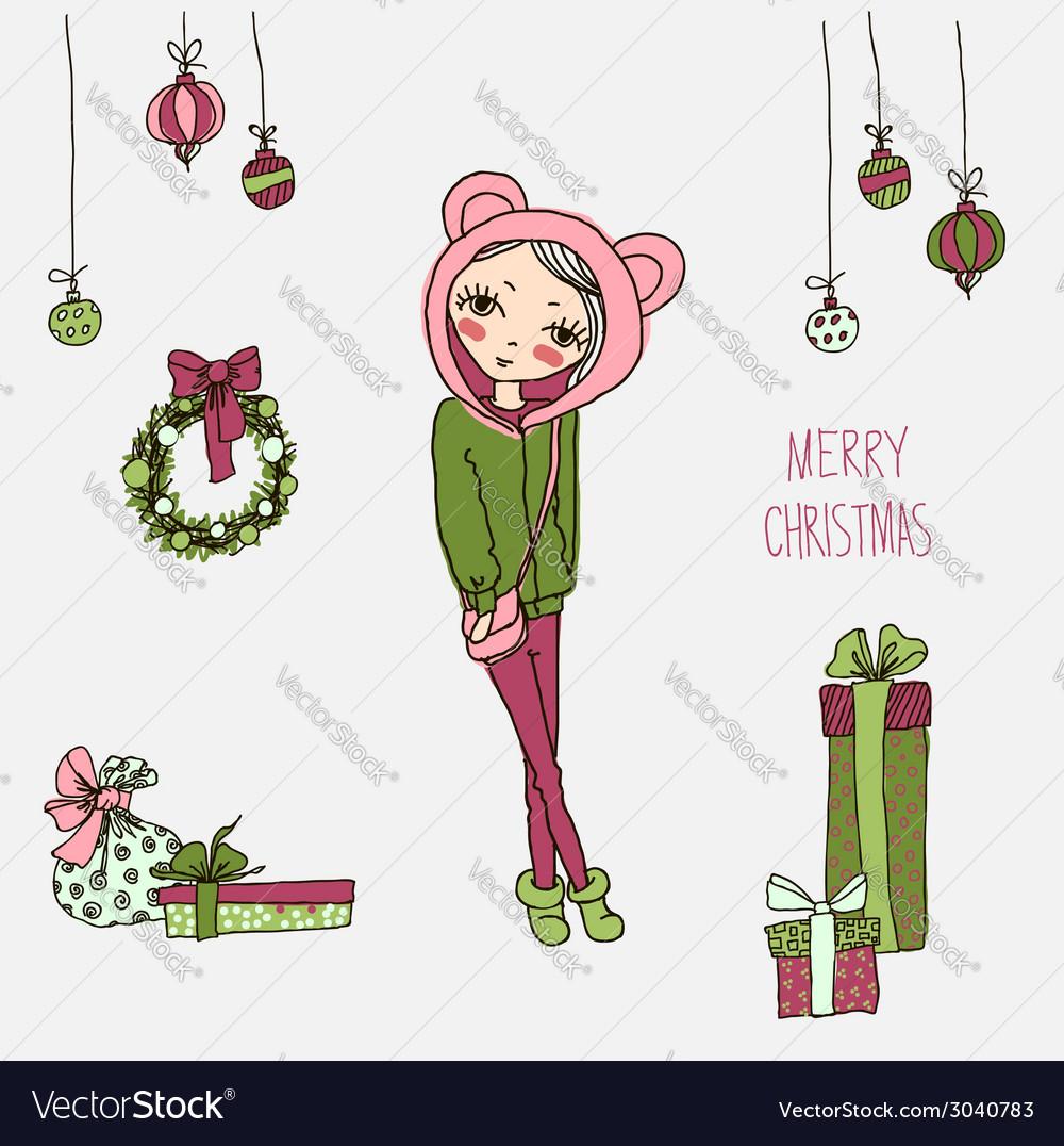 Cute Christmas card in