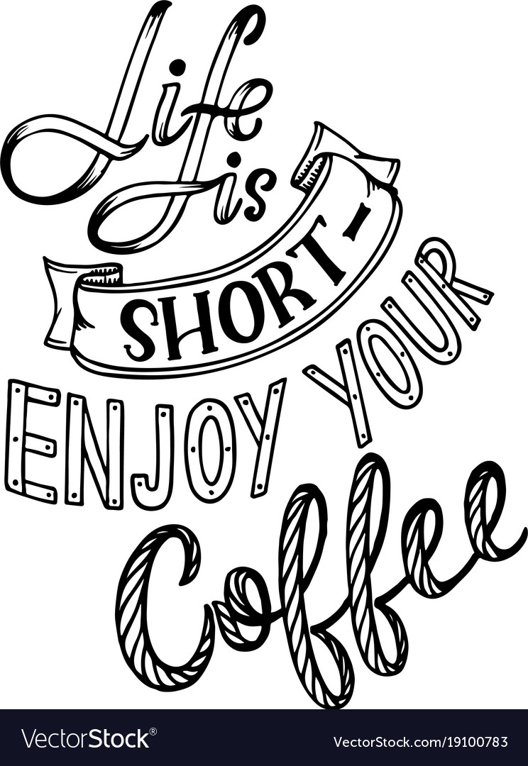 hand lettering quote sketches for coffee shop