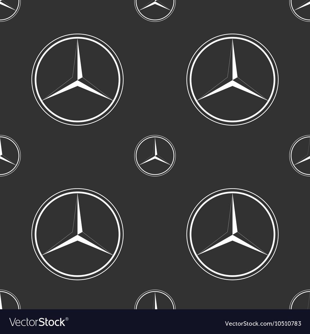 Mercedes Benz Emblem On Dark Grey Background Vector Image