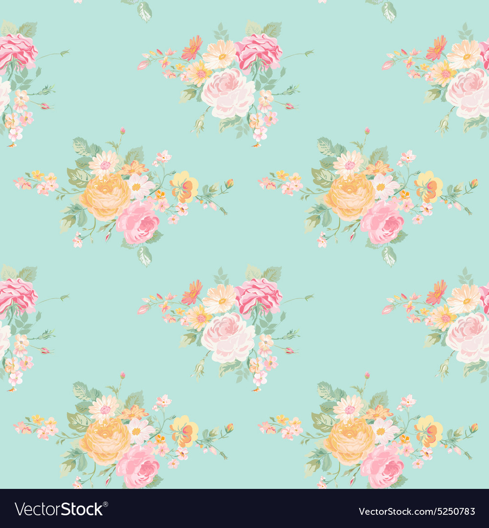 Vintage Flowers Background Royalty Free Vector Image