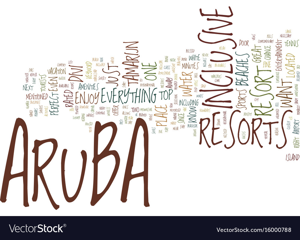 Aruba resorts text background word cloud concept
