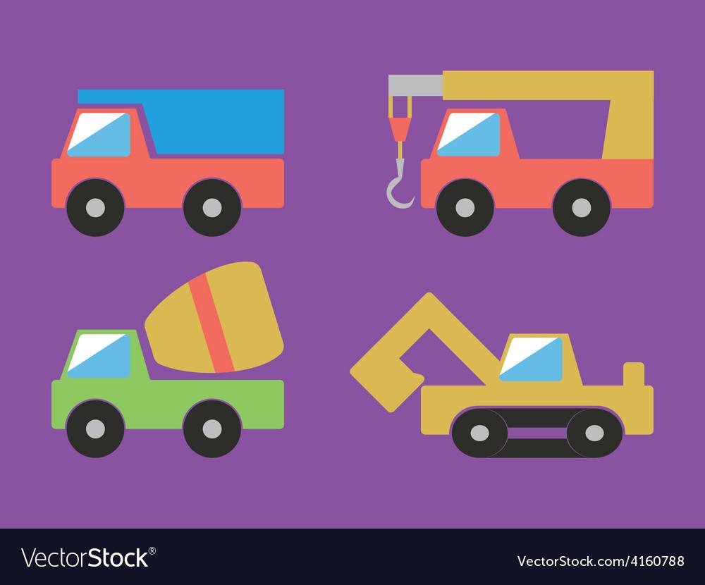 Construction cars set