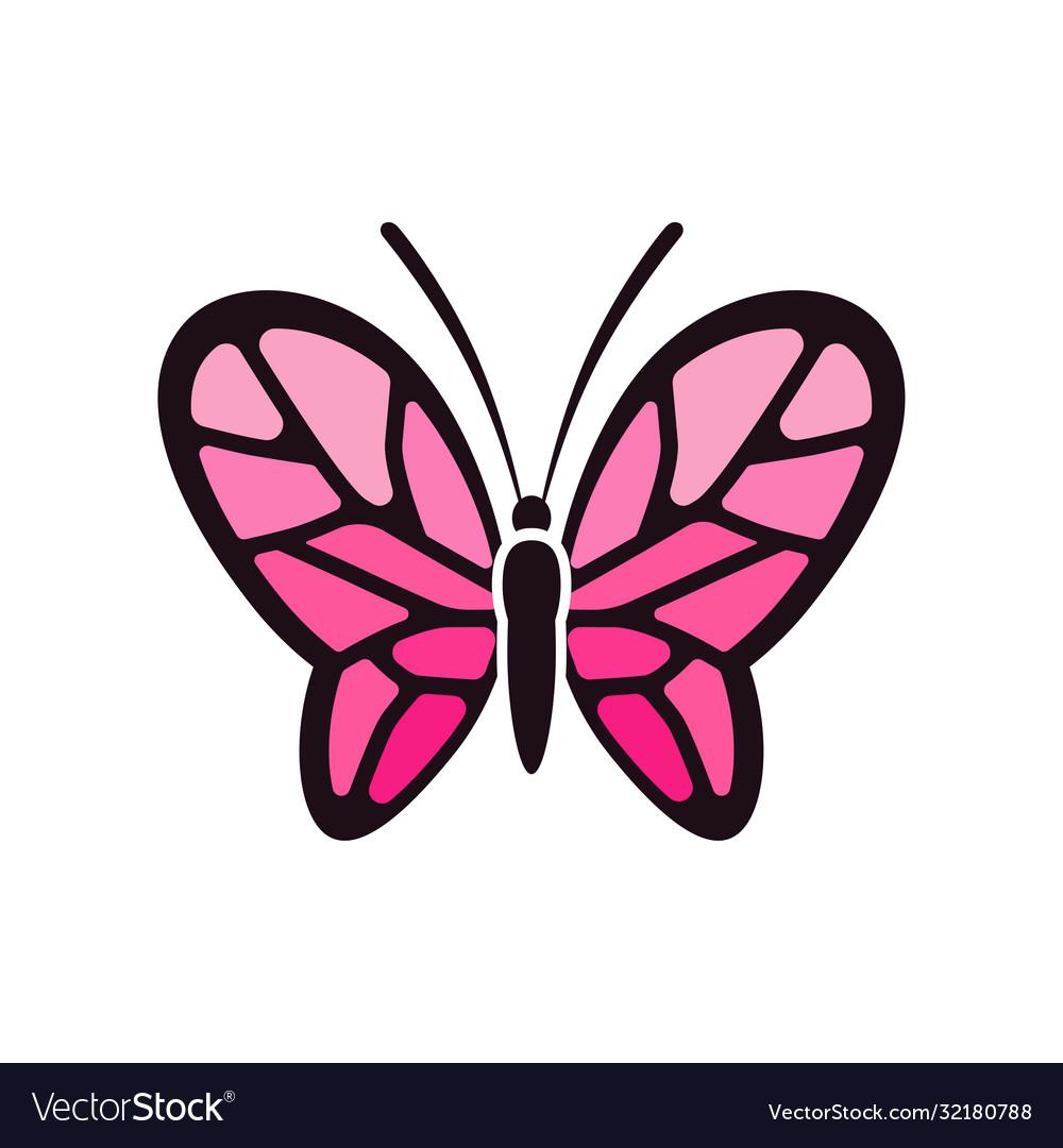 Creative feminine pink butterflies vector images