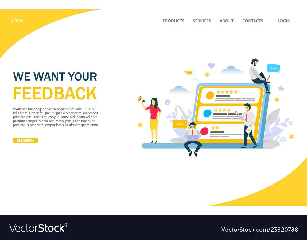 Feedback website landing page design