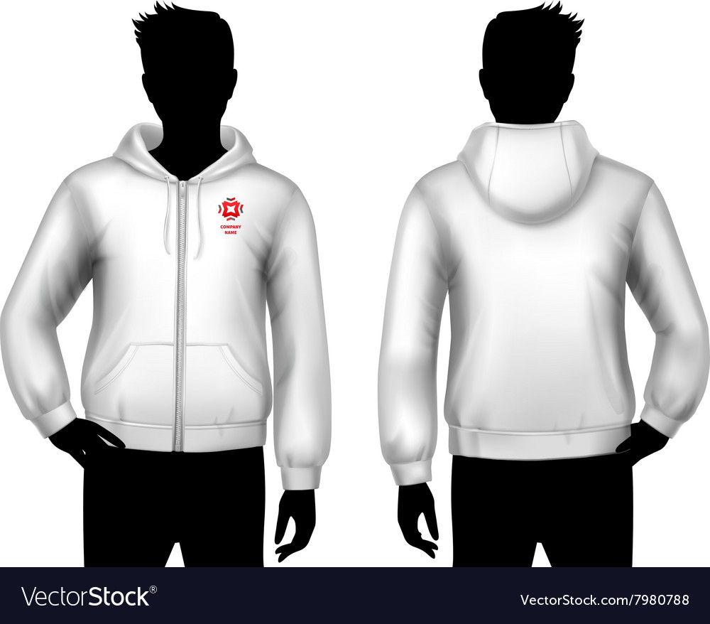 Hooded Sweatshirt Template vector image