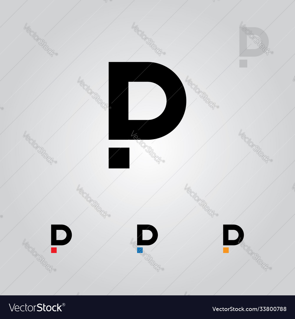 Pd or dp letters logo