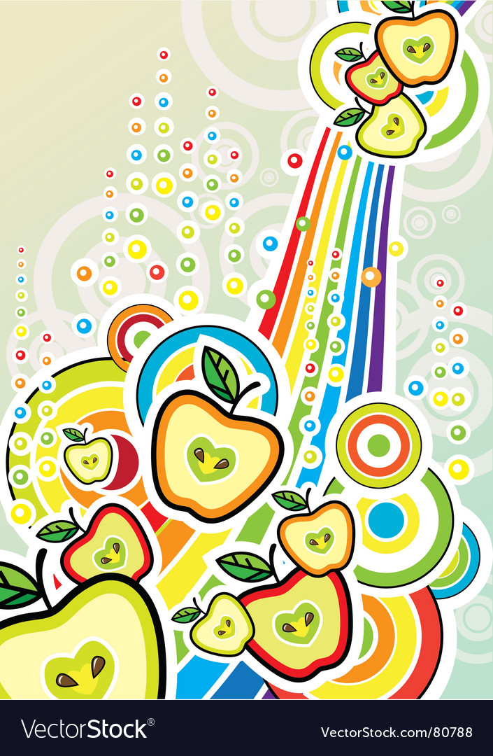 Pop art illustration with apples