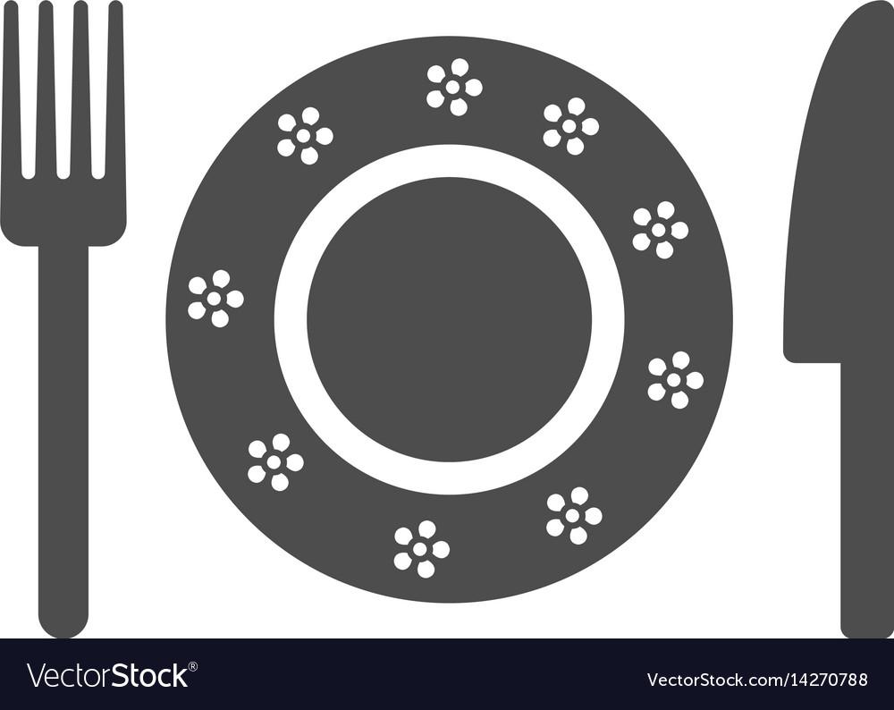 Restaurant tableware icon vector image